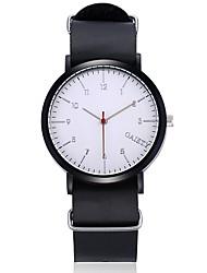 abordables -Hombre Mujer Cuarzo Reloj de Pulsera Chino Gran venta Piel Banda Casual Bohemio Reloj creativo único Reloj de Vestir Moda Cool Negro