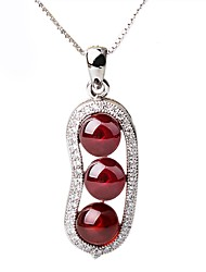 cheap -Women's Others Personalized Fashion Choker Necklace Pendant Necklace Synthetic Ruby Sterling Silver Rhinestone Choker Necklace Pendant