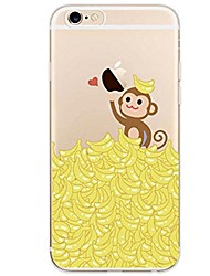 cheap -For iPhone X iPhone 8 Case Cover Ultra-thin Transparent Pattern Back Cover Case Animal Fruit Soft TPU for Apple iPhone X iPhone 8 Plus
