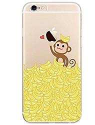 Недорогие -Назначение iPhone X iPhone 8 Чехлы панели Ультратонкий Прозрачный С узором Задняя крышка Кейс для Животное Фрукты Мягкий Термопластик для