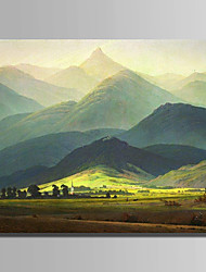 cheap -Hand-Painted Landscape Horizontal,Modern One Panel Canvas Oil Painting For Home Decoration