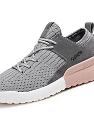 cheap -Women's Shoes Knit / Customized Materials Fall / Winter Comfort Athletic Shoes Running Shoes Low Heel Lace-up White / Black / Gray