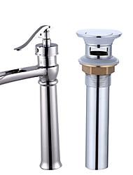 Centerset Electroplate , Bathroom Sink Faucet