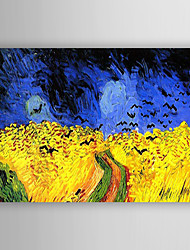 cheap -Oil Painting Hand Painted - Landscape Modern / Contemporary Canvas