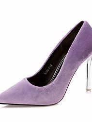 cheap -Women's Shoes Leatherette Fall Comfort Heels Stiletto Heel Pointed Toe For Dress Burgundy Light Pink Green Purple Black