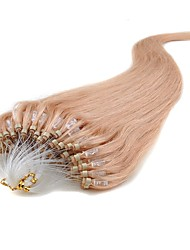 preiswerte -Mikroring Haar-Verlängerung Haarverlängerungen 100 Stränge / Packung 0,5 g / Strand Rotblond Medium Auburn Dunkeles Rotbraun Blonde