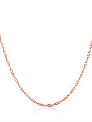 preiswerte -Damen vergoldet Rose Gold überzogen Ketten - vergoldet Rose Gold überzogen Modisch Modische Halsketten Für Party Normal