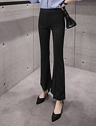 Women's High Rise Micro-elastic Business Pants,Sexy Simple Bootcut Solid