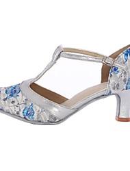 cheap -Women's Modern Customized Materials Heel Indoor High Heel Blue Customizable