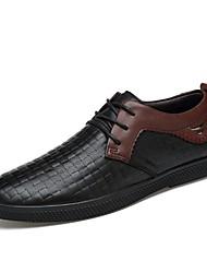 Masculino sapatos Pele Real Pele Napa Pele Primavera Outono Conforto Sapatos formais Sapatos de mergulho Oxfords Cadarço Para Casual