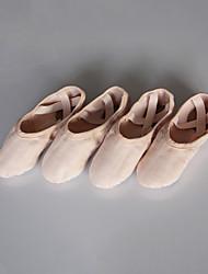 cheap -Women's Ballet Cotton Split Sole Indoor Pink Customizable