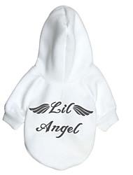 Chien Pulls à capuche Vêtements pour Chien Chaud Décontracté / Quotidien Ange Ange et Diable Blanc Rouge Costume Pour les animaux
