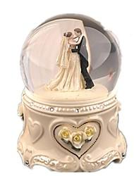 Bolas Caixa de música Brinquedos Circular Cristal Cerâmica Peças Unisexo Dom