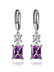 economico -Per donna Orecchini a bottone Diamante sintetico Geometrico Di tendenza Ipoallergenico Gioielli di Lusso Stile semplice Zirconi Acciaio