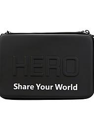 Недорогие -andoer сумка для переноски сумка pu для gopro hero 4/3 / 3/2/1 камера и аксессуары с ремешком молния черный