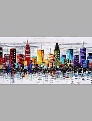 Недорогие -Ручная роспись Пейзаж Вертикальная, Абстракция холст Hang-роспись маслом Украшение дома 1 панель