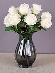 abordables -1 branche soie exquise classique rose fleurs artificielles décoration de la maison