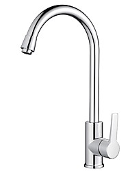 Недорогие -Современный Прочее Чистка и уход Настольная установка Регуляция температуры Хром , кухонный смеситель
