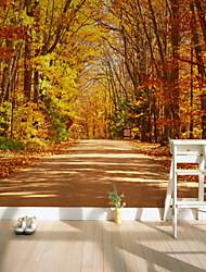 baratos -Árvore Natureza e Paisagem Folha Decoração para casa Pastoril Estilo Modern Revestimento de paredes, Tela de pintura Material adesivo