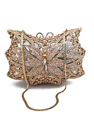 Недорогие -жен. Мешки Металл Вечерняя сумочка Кристаллы для Свадьба Для праздника / вечеринки Официальные Весна Лето Цвет шампанского Золотой