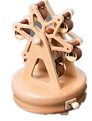 abordables -Boîte à musique Jouets Bâtiment Célèbre Cheval Carrousel Bois Pièces Unisexe Anniversaire Cadeau