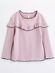 Mädchen T-Shirt einfarbig Baumwolle Herbst Lange Ärmel