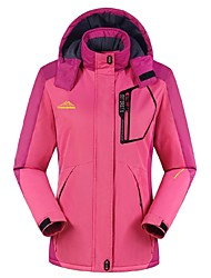 cheap -Women's Hiking Jacket Outdoor Winter Windproof Rain-Proof Waterproof Zipper Wearable Breathability Winter Jacket Top Waterproof Full