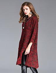 preiswerte -Damen Kunst-Pelz Pullover-Einfarbig