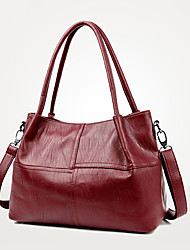 Women Bags All Seasons PU Tote Pockets Zipper for Casual Office & Career Blue Black Purple Wine