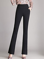 cheap -Women's High Rise Stretchy Bootcut Slim Business Pants,Casual Solid Polyester Winter Fall