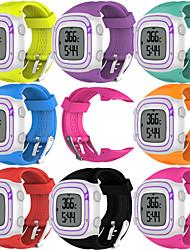 Недорогие -Ремешок для часов для Forerunner 10 Garmin Спортивный ремешок Pезина Повязка на запястье