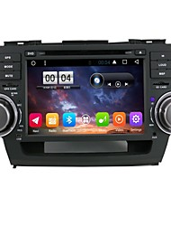 2 Din Capacitive touch LCD Car DVD Player android 6.0 For Toyota Highlander2008-2012