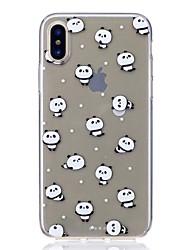 Θήκη Za Apple iPhone X iPhone 8 Otporno na trešnju Ultra tanko Uzorak Kućište Panda Mekano TPU za iPhone X iPhone 8 Plus iPhone 8 iPhone