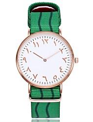 Недорогие -Муж. Жен. Модные часы Наручные часы Уникальный творческий часы Китайский Кварцевый Нейлон Группа Винтаж Богемные Повседневная Элегантные