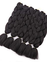 "cheap -24""100g Kanekalon Jumbo Braiding Hair Synthetic Crochet Braid Hair Extensions 1Piece/lot"