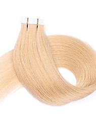 16 18 20 22 24 Tape In Human Hair Extensions 20 Pieces Skin Weft Tape in Human Hair #613 Blonde PU Tape Hair