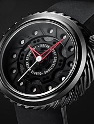 Homens Relógio Esportivo Relógio de Moda Único Criativo relógio Relógio Casual Chinês Quartzo Impermeável Borracha Banda Pendente Casual