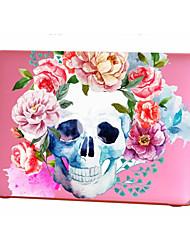 Недорогие -MacBook Кейс для MacBook Air, 13 дюймов MacBook Air, 11 дюймов MacBook Pro, 13 дюймов с дисплеем Retina Черепа Цветы Термопластик материал