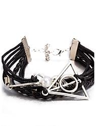 cheap -Men's Women's Bracelet Leather Bracelet Wrap Bracelet Imitation Pearl Geometric Friendship Multi Layer Adjustable Punk Imitation Pearl PU