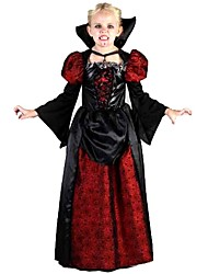 Wizard/Witch Vampire One-Piece/Dress Kid Halloween Christmas Festival/Holiday Halloween Costumes Patchwork