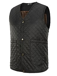 cheap -Men's Casual/Daily Casual Vintage Winter Fall Vest