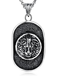 Men's Pendant Necklaces Statement Necklaces Jewelry Geometric Skull Stainless Steel Alloy Punk Hip-Hop Jewelry For Halloween Street