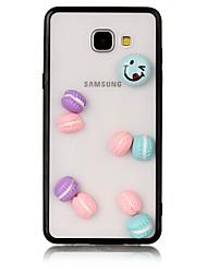 Недорогие -Кейс для Назначение SSamsung Galaxy A5(2017) A3(2017) Прозрачный Кейс на заднюю панель Продукты питания 3D в мультяшном стиле Твердый