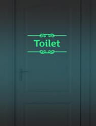 economico -1pcs adesivi luminosi divertente fai da te decorazione della casa porta del bagno adesivo fluorescente poster