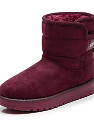 cheap -Girls' Shoes Fabric Winter Fluff Lining Fashion Boots Snow Boots Boots Mid-Calf Boots for Casual Outdoor Black Camel Burgundy