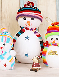 3PC Christmas Ornament Festival Articles Christmas Small Doll Snowman A Doll Pendulum Pendant Small Gift Gift