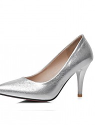preiswerte -Damen Schuhe Kunstleder / PU Frühling / Herbst Komfort / Neuheit High Heels Stöckelabsatz Spitze Zehe Tupfen Silber / Rot / Blau / Kleid