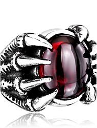 abordables -Homme Acier inoxydable Autres - Personnalisé / Mode Noir / Rouge Bague Pour Quotidien / Décontracté