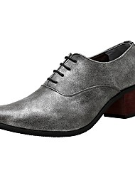 Homme Chaussures PU de microfibre synthétique Printemps Automne Chaussures formelles Oxfords Lacet Pour Soirée & Evénement Noir Gris Bleu