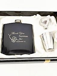 Bride Groom Bridesmaid Groomsman Couple Parents Stainless Steel Hip Flasks